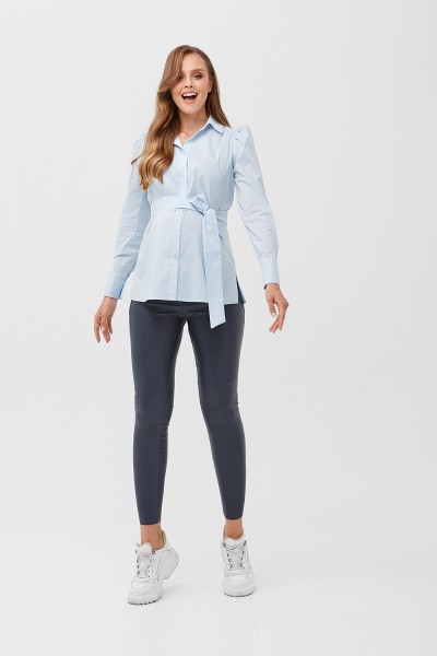 Shirt with a belt for pregnant women