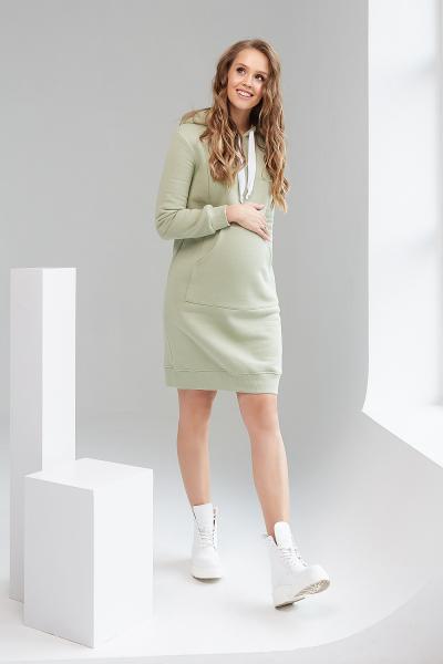 Фісташкова Сукня-Худі для вагітних