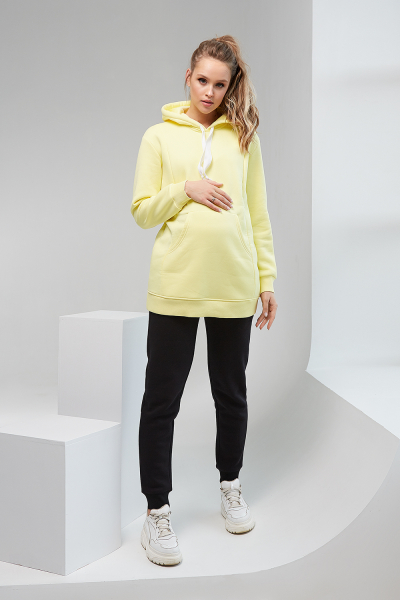 Yellow Hoodie for pregnant women